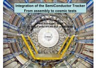 From assembly to final cosmic tests