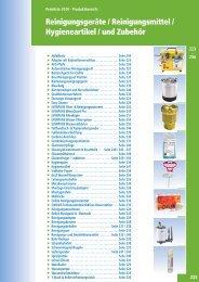 Reinigungsgeräte & -mittel / Hygieneartikel und Zubehör