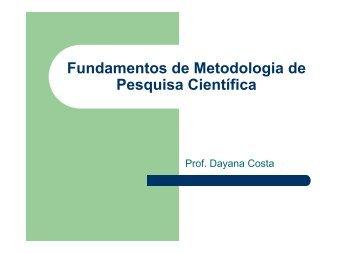 Fundamentos de Metodologia de Pesquisa Científica