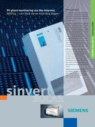 PV plant monitoring via the Internet WEB'log – mini ... - JHRoerden