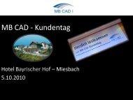 MB CAD Kundentag 2010 in Bildern - MB CAD GmbH
