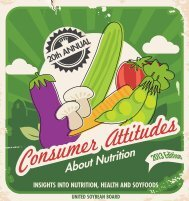 Consumer Attitudes about Nutrition - SoyConnection.com