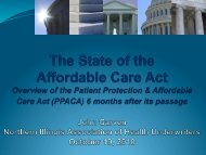 The State of the Affordable Care Act