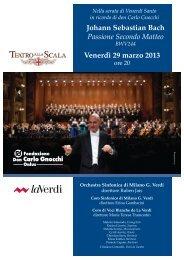 Venerdì 29 marzo 2013 Johann Sebastian Bach Passione ... - laVerdi