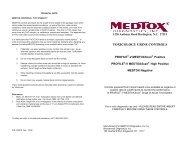 V CONTROLS, Rev. 12/09 - Medtox
