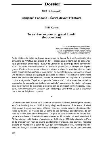 Dossier - Till R. Kuhnle