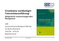 Grundsätze nachhaltiger Unternehmensführung - Rudolf X. Ruter