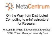 On the Way from Distributed Computing to ... - MetaCentrum NGI
