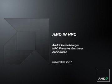 AMD IN HPC - MetaCentrum VO