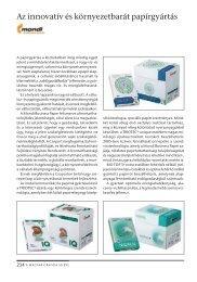 Az innovatív és környezetbarát papírgyártás - mgonline