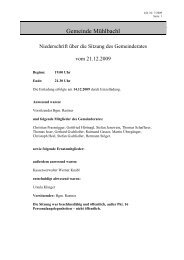 Protokoll vom 21.12.2009 (127 KB) - .PDF - Mühlbachl - Land Tirol