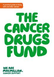Cancer drugs fund - Macmillan Cancer Support
