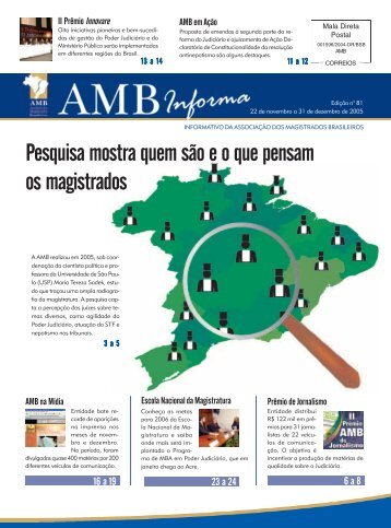 Pesquisa mostra quem são e o que pensam os magistrados - AMB