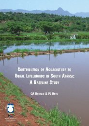 Contribution of Aquaculture to Rural Livelihoods in South Africa: A ...