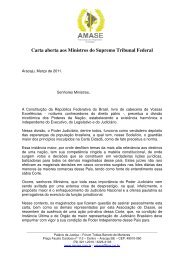 Carta aberta aos Ministros do Supremo Tribunal Federal - AMB