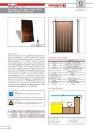 PSI Colectores solares planos para montaje ... - Giacomini SpA