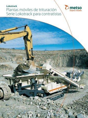 Plantas móviles de trituración Serie Lokotrack para ... - Metso