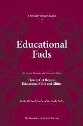 Educational Fads - The Critical Thinking Community