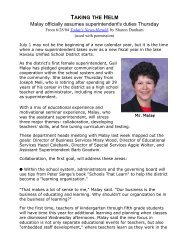 Changing of the guard - Lake Havasu Unified School District