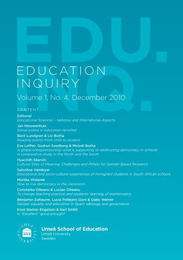 Gender equality and education in Spain: ideology and governance
