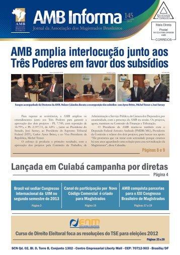 AMB amplia interlocução junto aos Três Poderes em favor dos ...