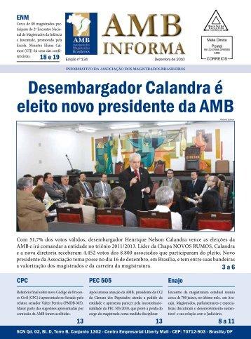 Desembargador Calandra é eleito novo presidente da AMB