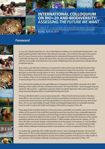 international colloquium on rio+20 and biodiversity - AMB