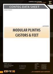 conteg data sheet modular plinths castors & feet