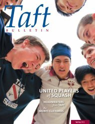 United PlayerS of SqUaSh - The Taft School