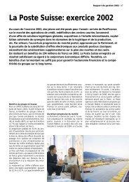 Rapport de gestion 2002Le lien est ouvert dans ... - La Poste Suisse
