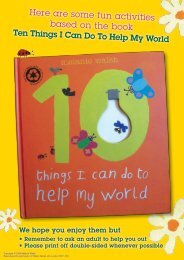 Ten Things I Can Do To Help My World – activities - Walker Books