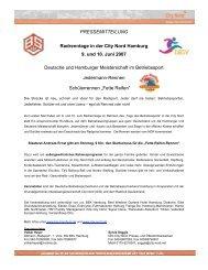 Radrenntage in der City Nord, 9. und 10. Juni