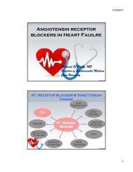 Angiotensin receptor blockers in Heart Fauilre