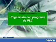 Regulación con programa de PLC
