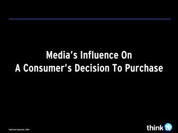 Media's Influence - Think TV