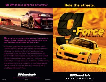 g-Force Brochure - Major Tire