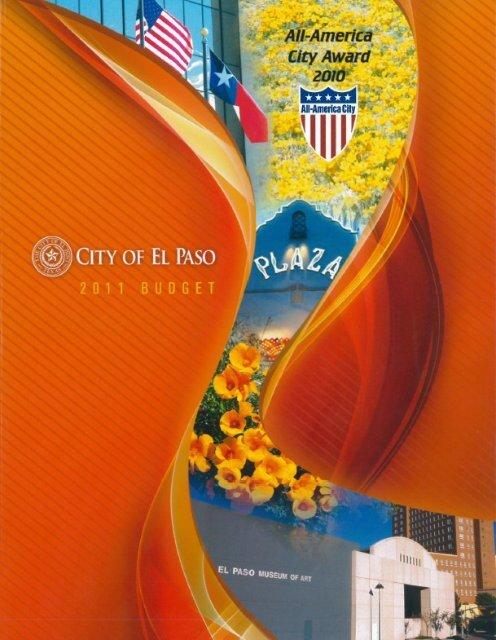 FY11 Budget Book City of El Paso