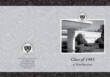Class of 1983 - Marian Catholic High School