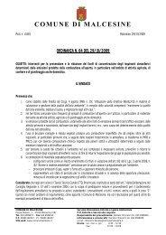 ordinanza n. 64 del 29/10/2009 - Comune di Malcesine