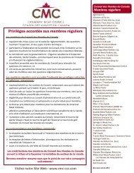 demande d'adhésion de membre régulier - Canadian Meat Council