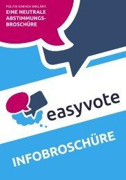 INFOBROSCHÜRE - Easyvote