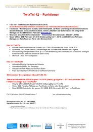 TwixTel 42 – Funktionen - AlphaCom Computertechnik GmbH