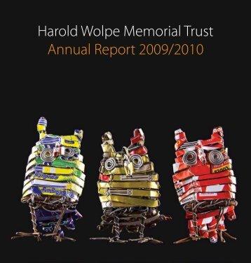 Annual Report 2009/2010 - The Harold Wolpe Memorial Trust
