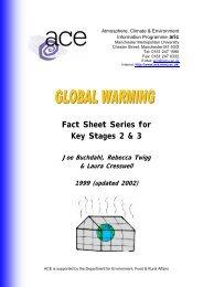 Global Warming Fact Sheet Series - Lord Grey School