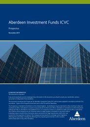 Aberdeen Investment Funds ICVC - Aberdeen Asset Management