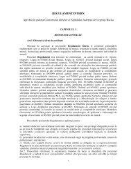 Regulament intern - Spitalul de Urgenta Bacau