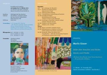 Marlis Glaser Bilder über Menschen und Bücher ... - Malerei Keramik