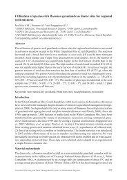Utilisation of species-rich Bromion grasslands as donor sites for ...