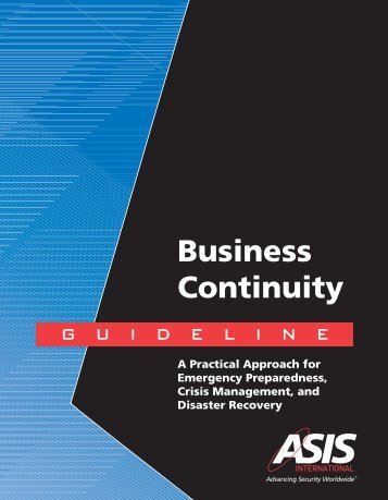 Business Continuity Guideline - US Chamber of Commerce