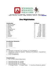Anfrageformular - Nürnberger-Spielkarten-Verlag GmbH